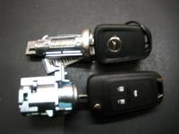 Автозамок Opel в сборе с комплектом ключей